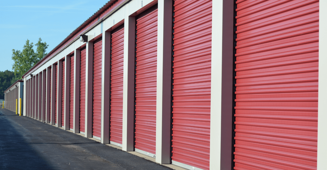 A row of clean and well-organized storage units