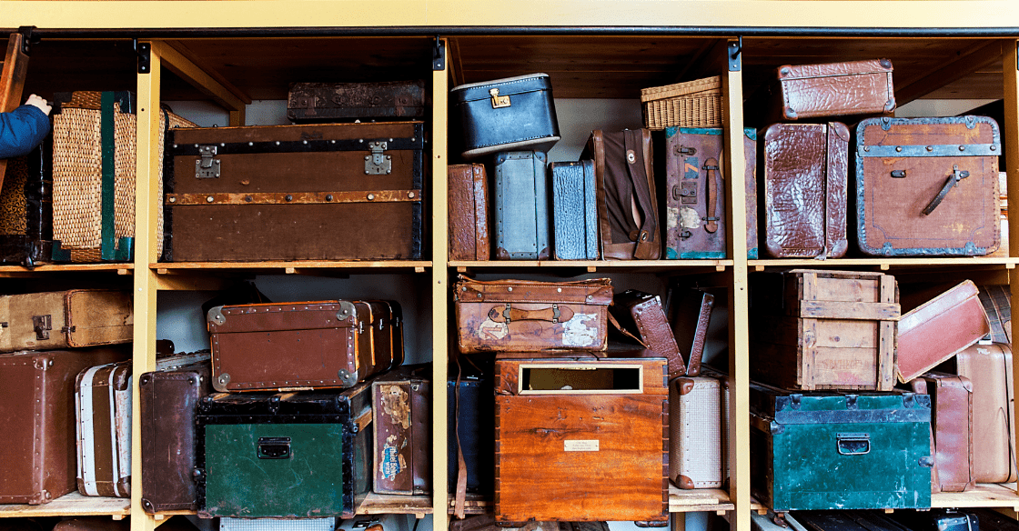 Valuable antique luggage that needs to be safely stored.